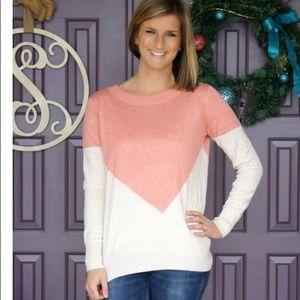 Stitch Fix 41 Hawthorn Presley Sweater Pink L